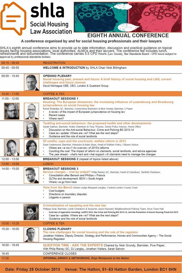 Full list of speakers & workshops