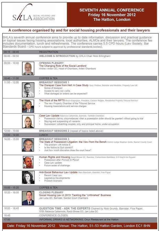 SHLA Conference 2012
