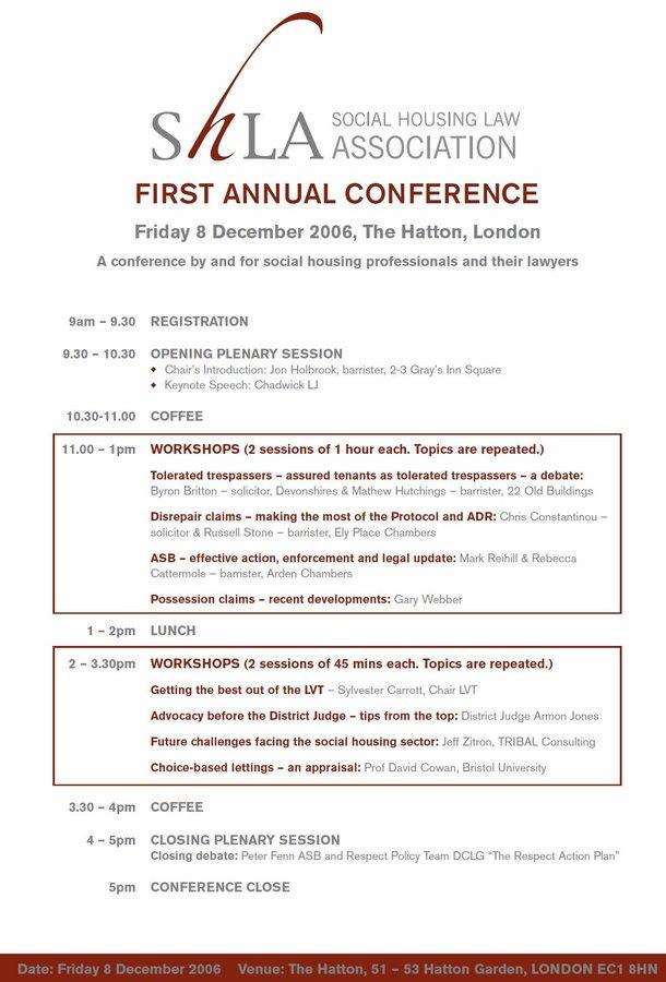 SHLA Annual Conference 2006